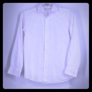 Calvin Klein, White  Button Down Shirt, Size 12